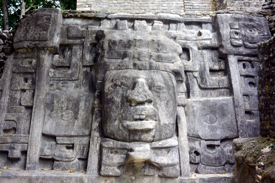Face mask Temple Lamanai Belize