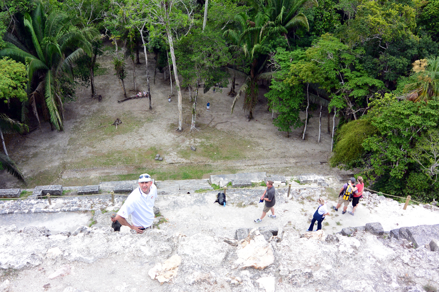 Lag Temple climb Lamanai Belize