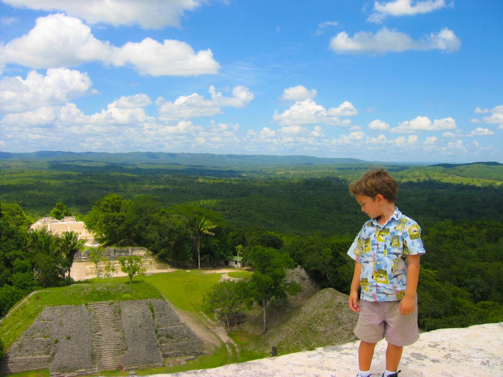 view from El Castillo xunantunich Belize