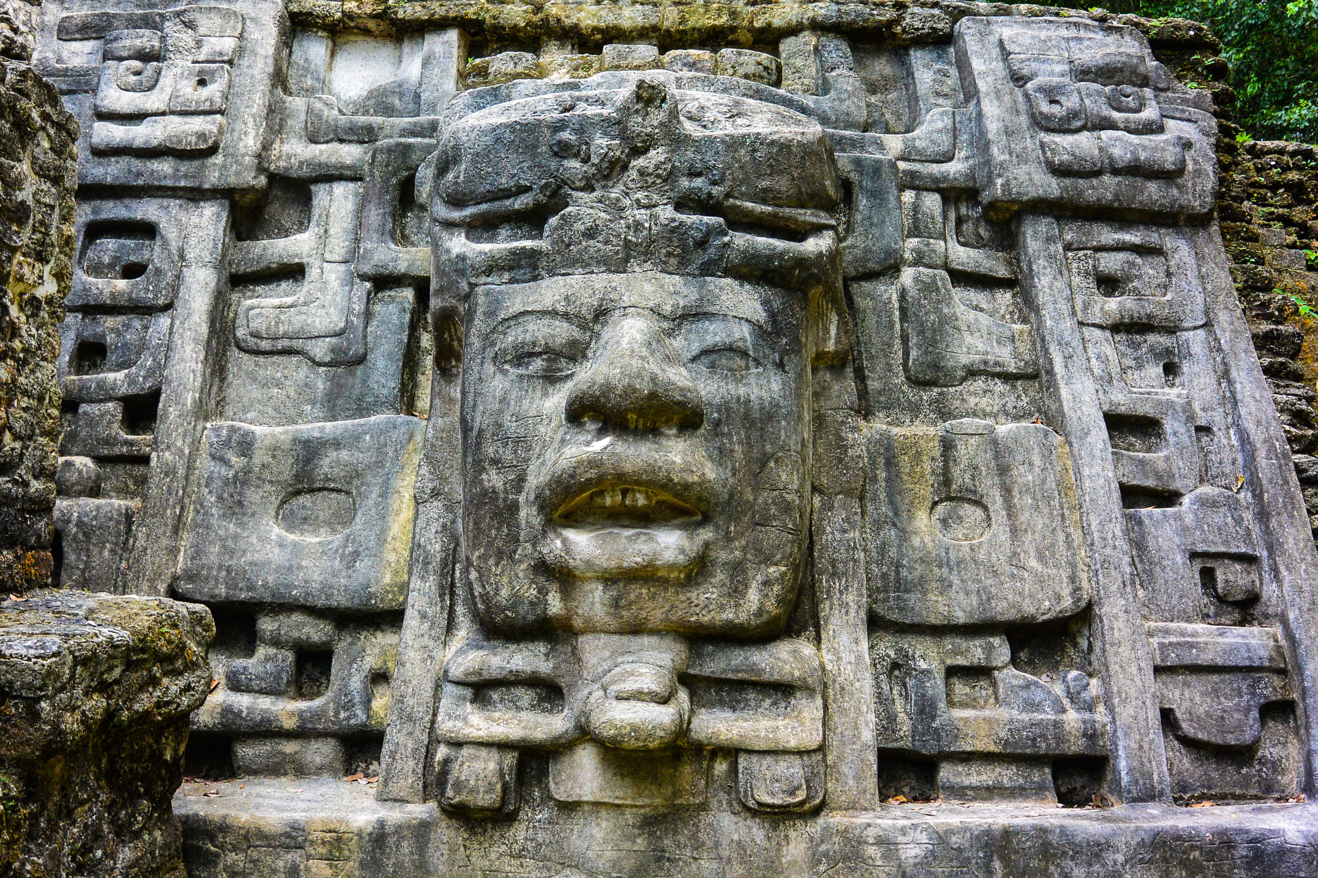 Lamanai Mayan Ruins Excursion Temples Mask