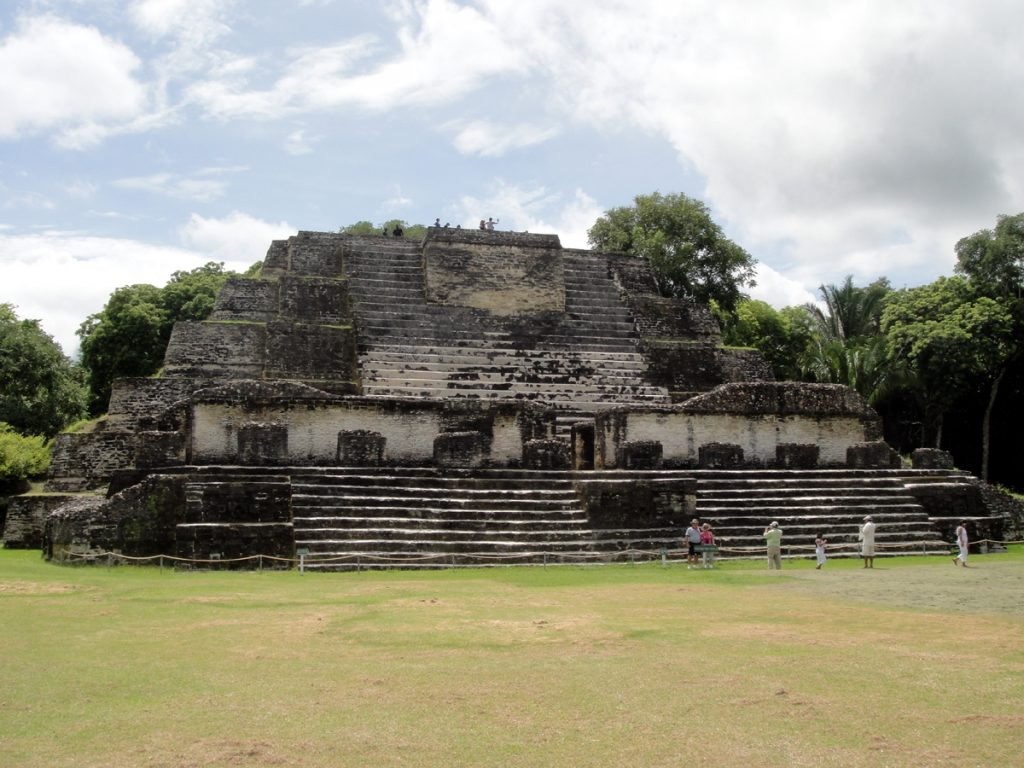 Maya temples at altun ha belize