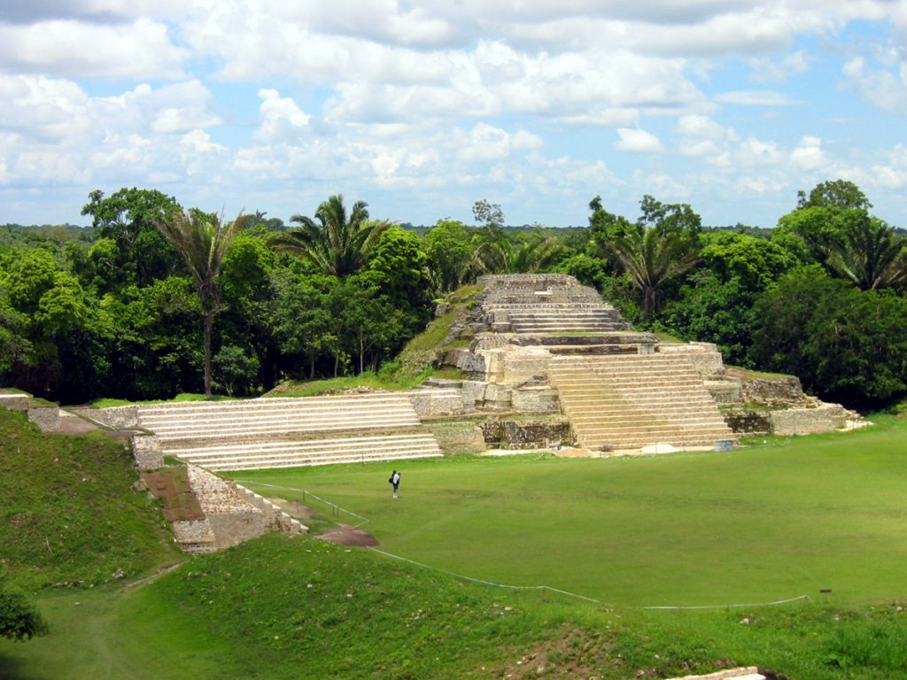 Belize Altun Ha main temple view