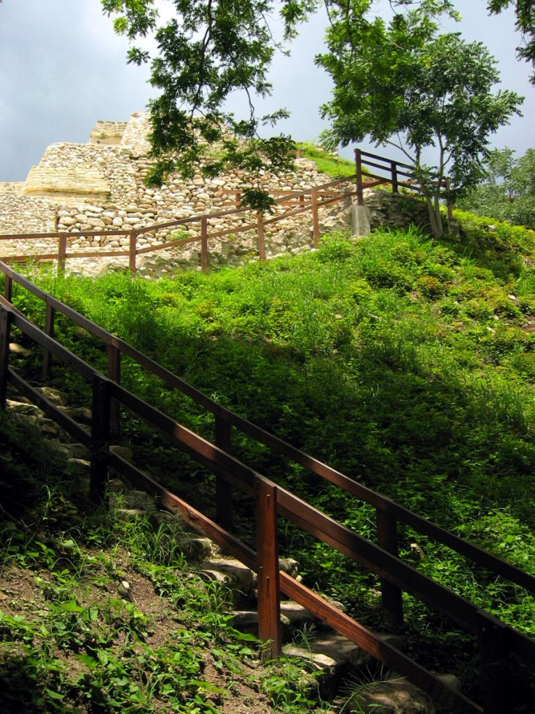 Altun ha main temple stairs