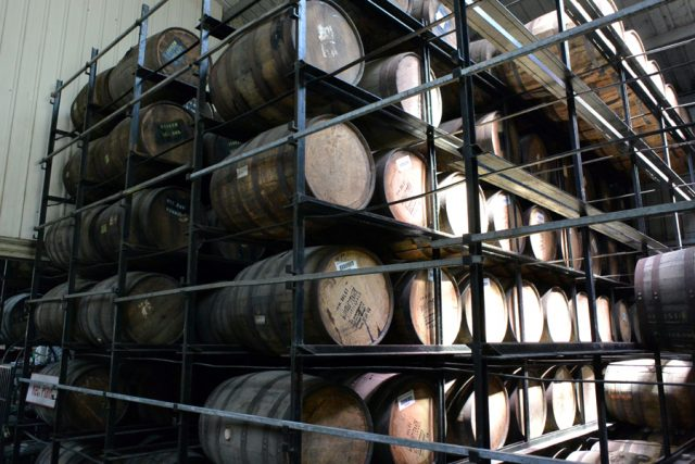 Belize Rum Barrels at Travellers belize factory tour