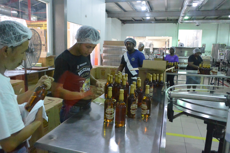 Belize rum tasting and rum factory tour