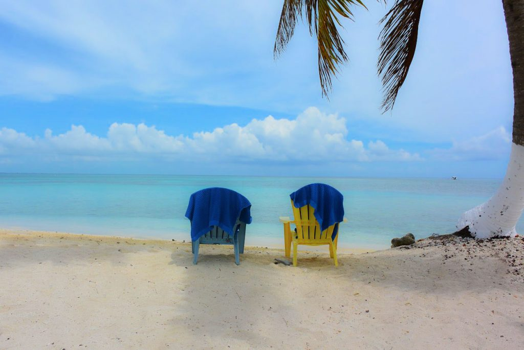 Belize Goff's Caye Beach Chairs