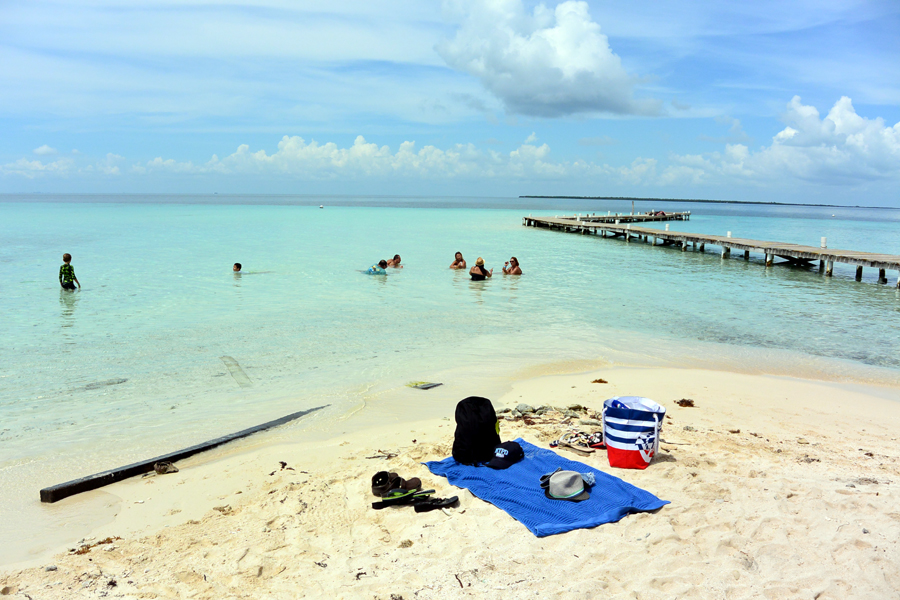 Goff's Caye beach towels in Belize