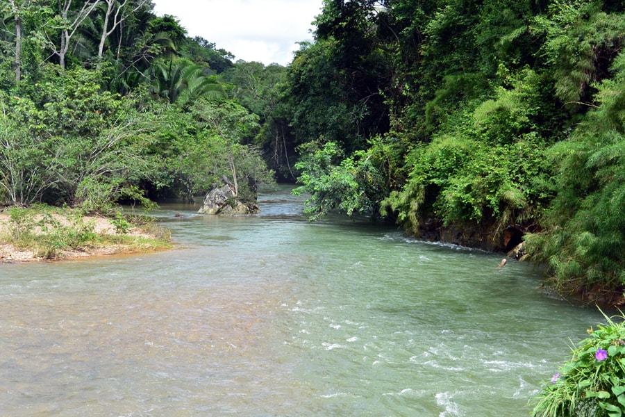 Cave tubing river Belize