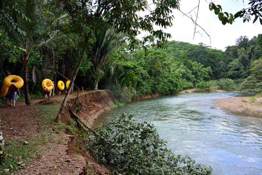 Cave Tubing walk Belize